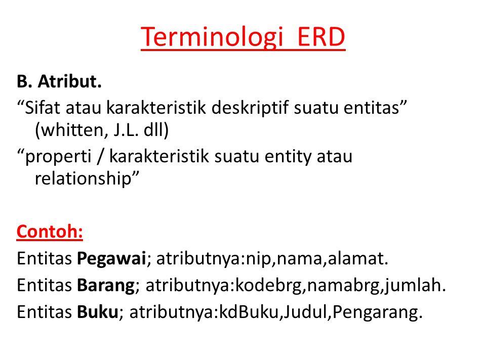 Terminologi ERD