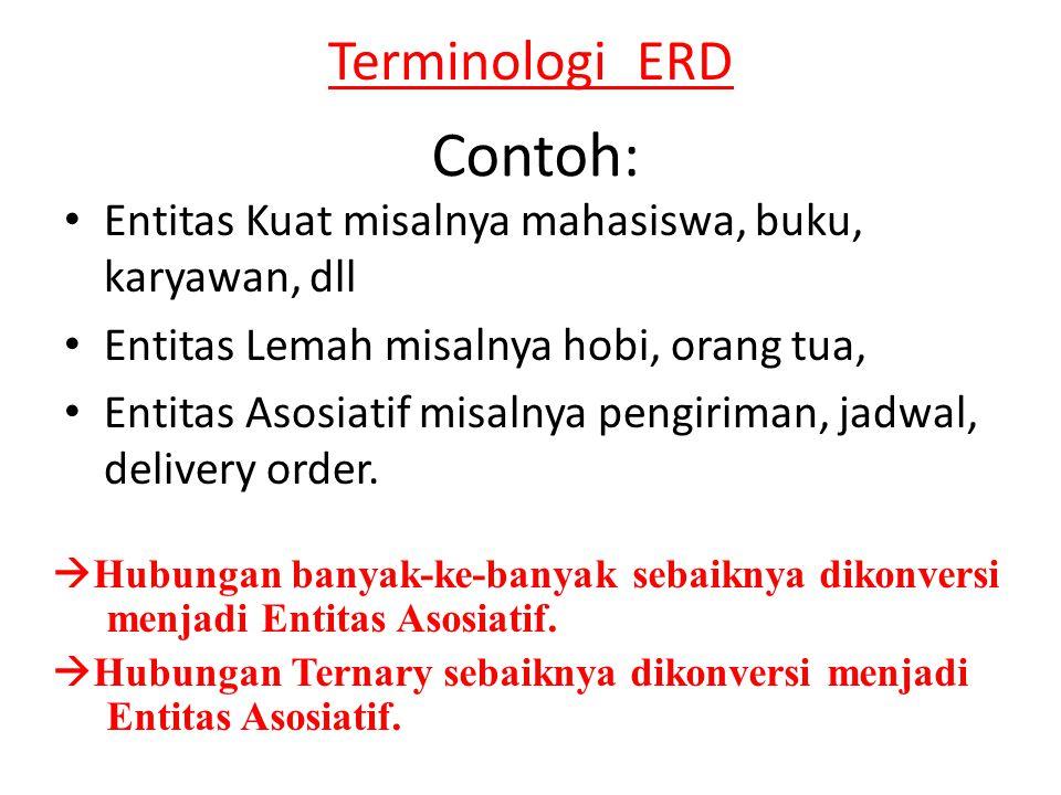Contoh: Terminologi ERD