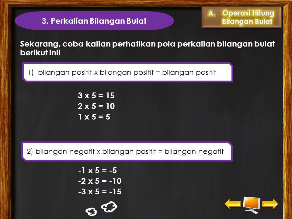 3. Perkalian Bilangan Bulat