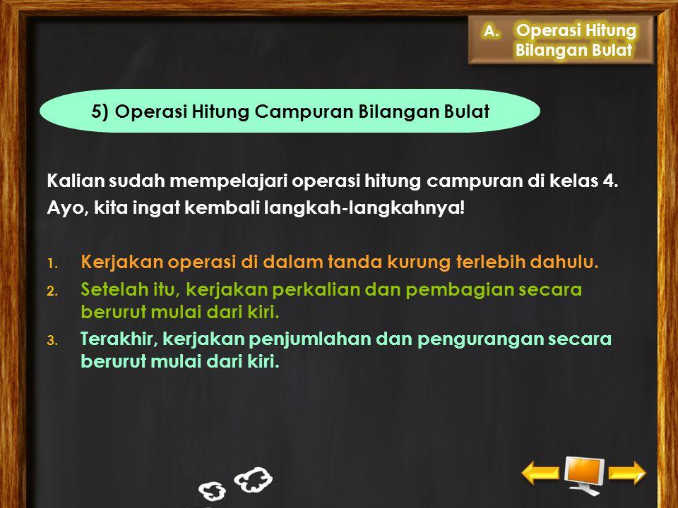 5) Operasi Hitung Campuran Bilangan Bulat
