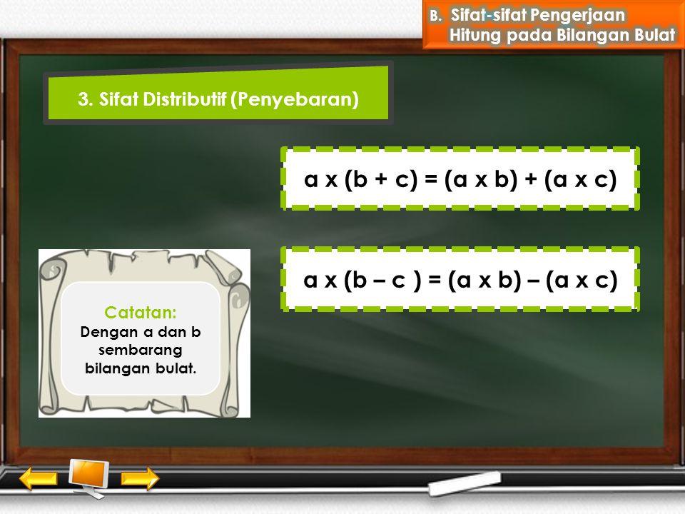 3. Sifat Distributif (Penyebaran)