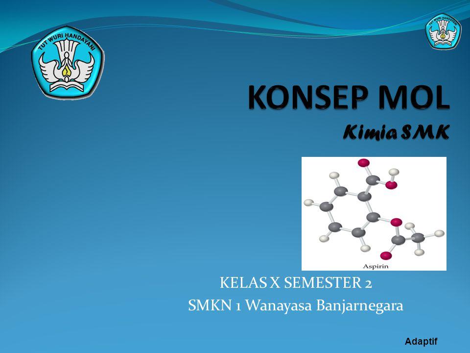 KELAS X SEMESTER 2 SMKN 1 Wanayasa Banjarnegara