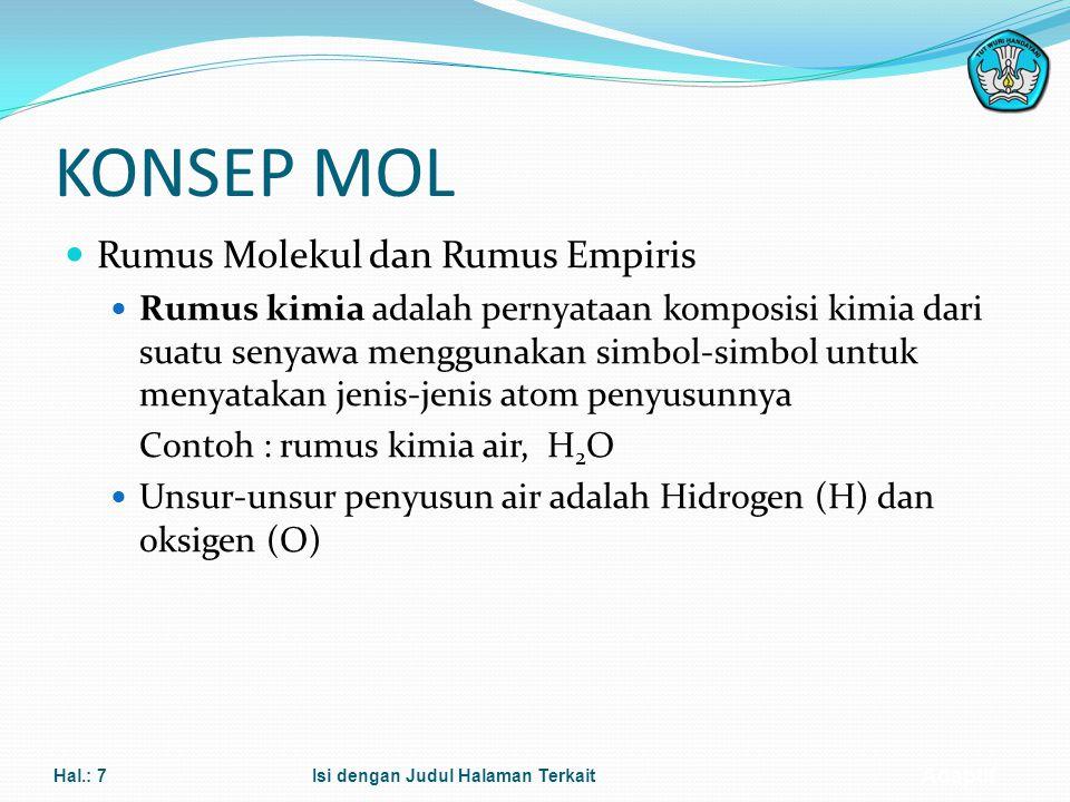 KONSEP MOL Rumus Molekul dan Rumus Empiris