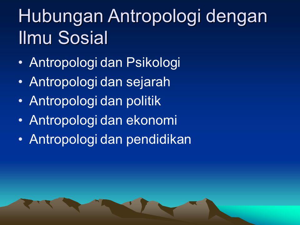 Hubungan Antropologi dengan Ilmu Sosial