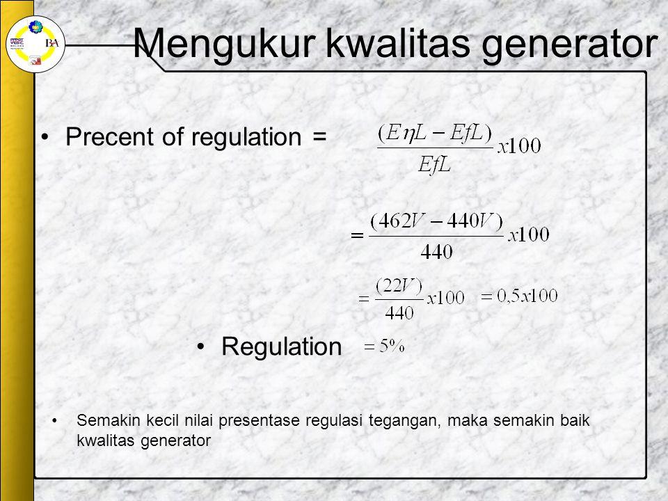 Mengukur kwalitas generator