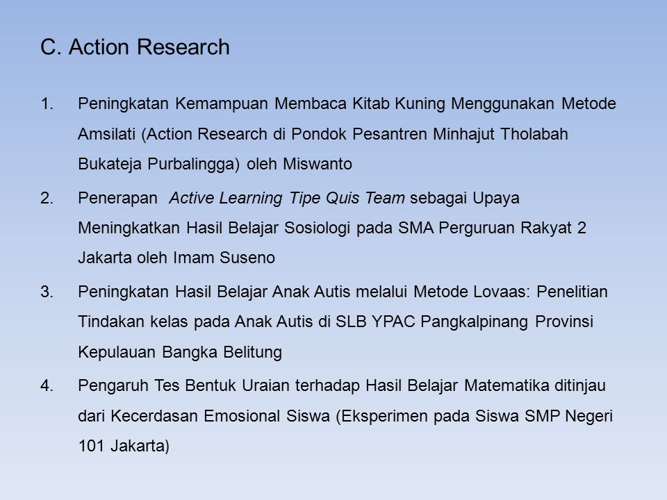 C. Action Research