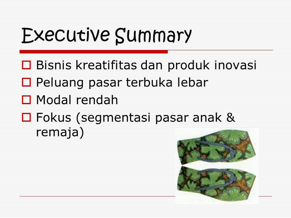 Executive Summary Bisnis kreatifitas dan produk inovasi
