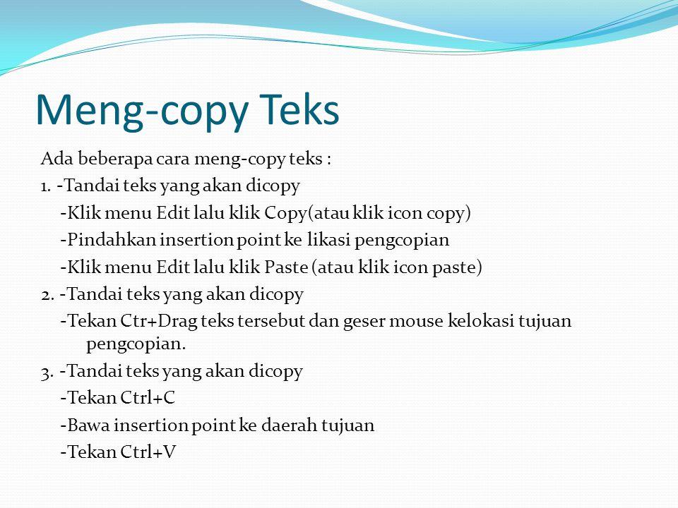 Meng-copy Teks