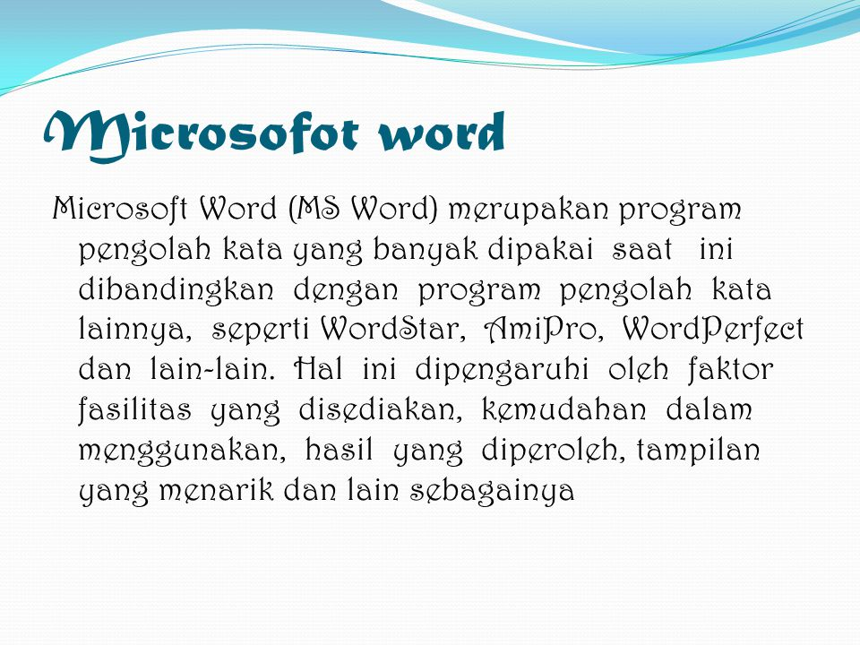 Microsofot word