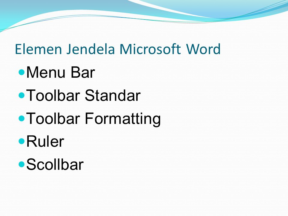 Elemen Jendela Microsoft Word