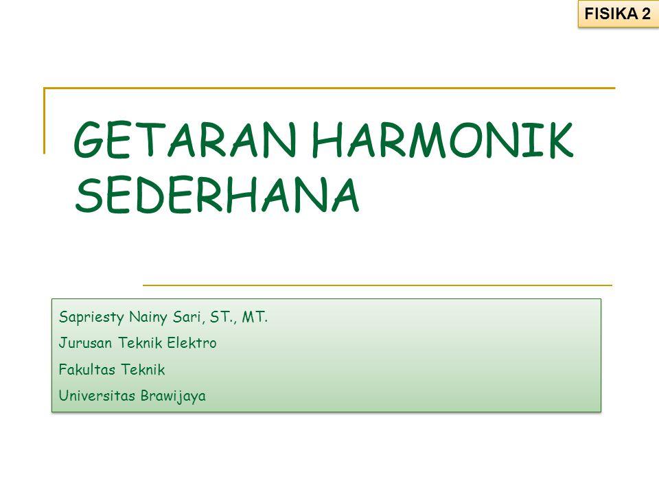 GETARAN HARMONIK SEDERHANA