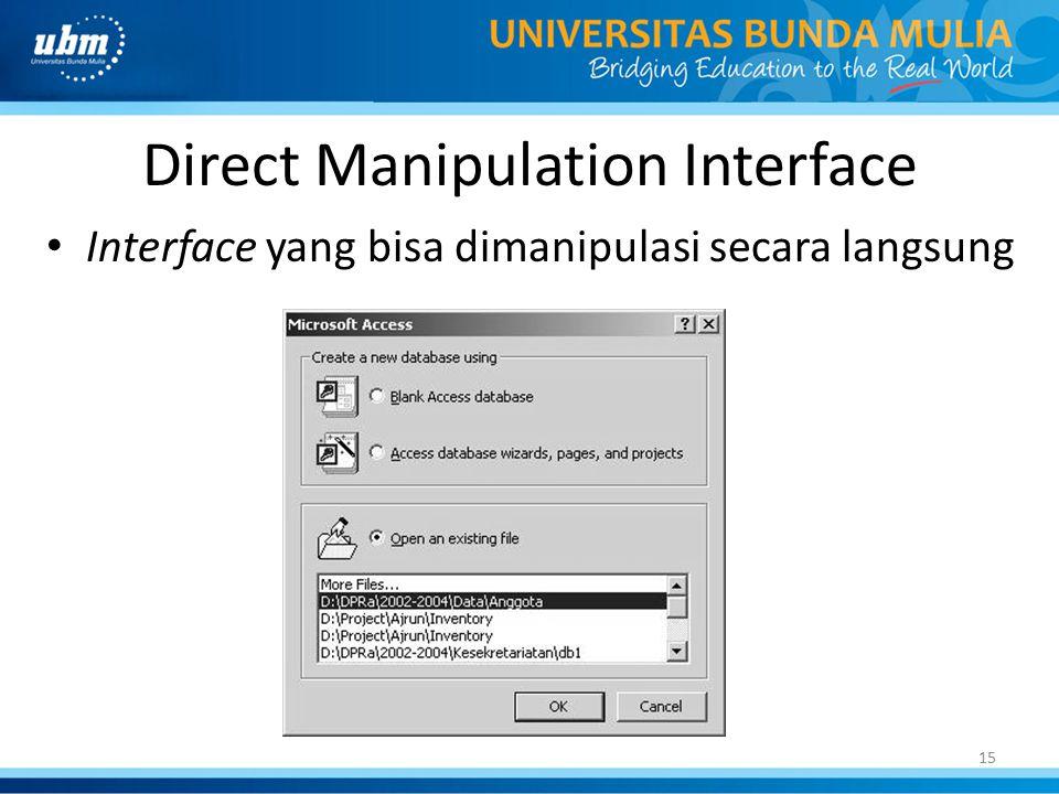 Direct Manipulation Interface