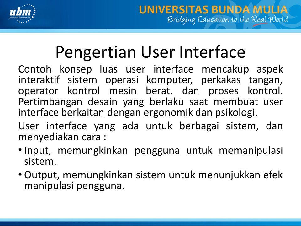 Pengertian User Interface