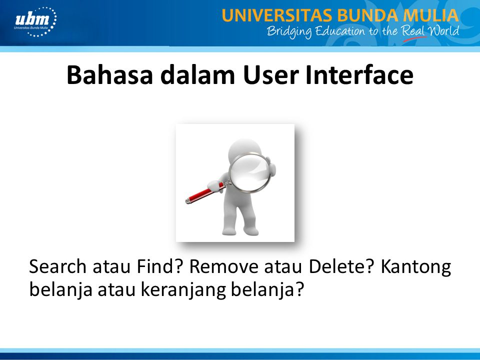 Bahasa dalam User Interface