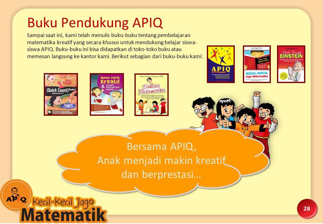 Dokumentasi Kegiatan. Suasana Kelas APIQ yang riang gembira di Sekolah Pelita Nusantara - Setiabudi.
