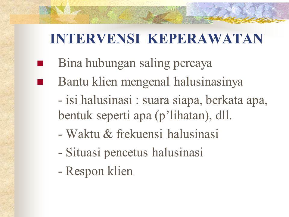 INTERVENSI KEPERAWATAN