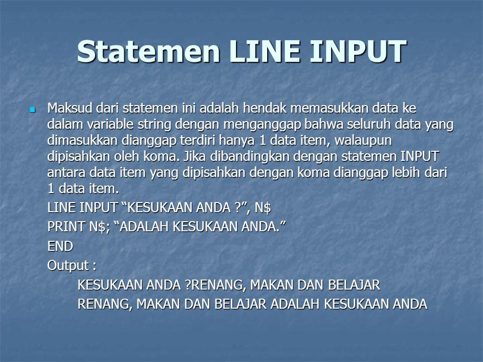 Statemen LINE INPUT