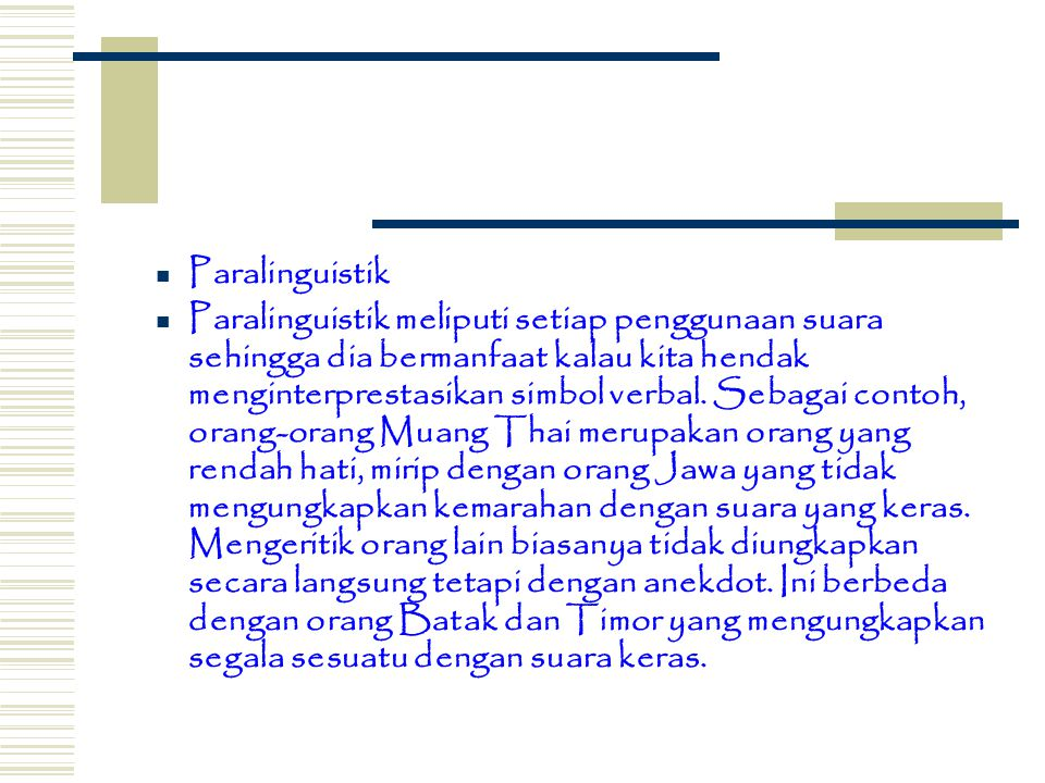 Paralinguistik