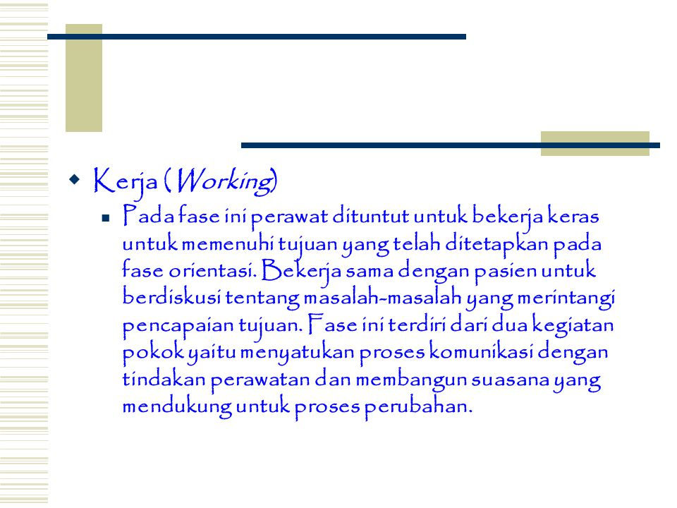 Kerja (Working)