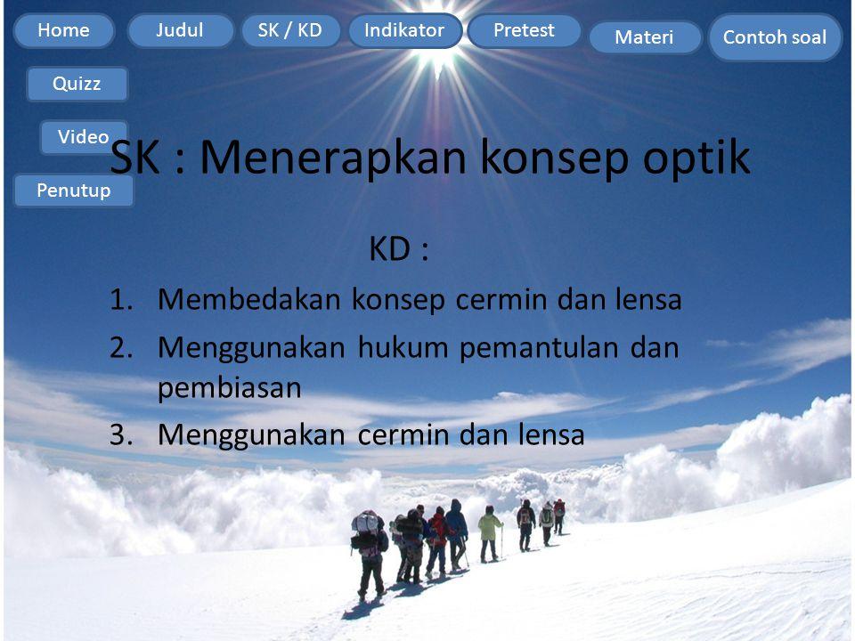 SK : Menerapkan konsep optik