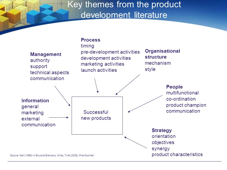 Key themes from the product development literature