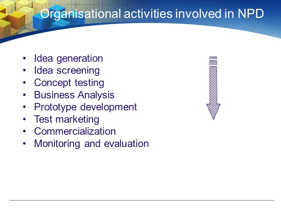 Organisational activities involved in NPD