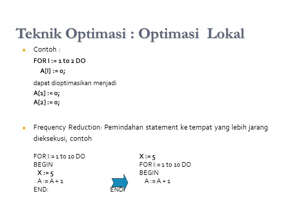 Teknik Optimasi : Optimasi Lokal