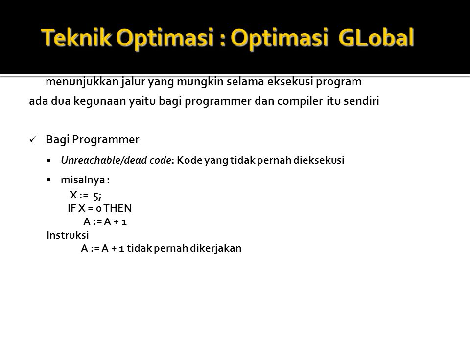 Teknik Optimasi : Optimasi GLobal