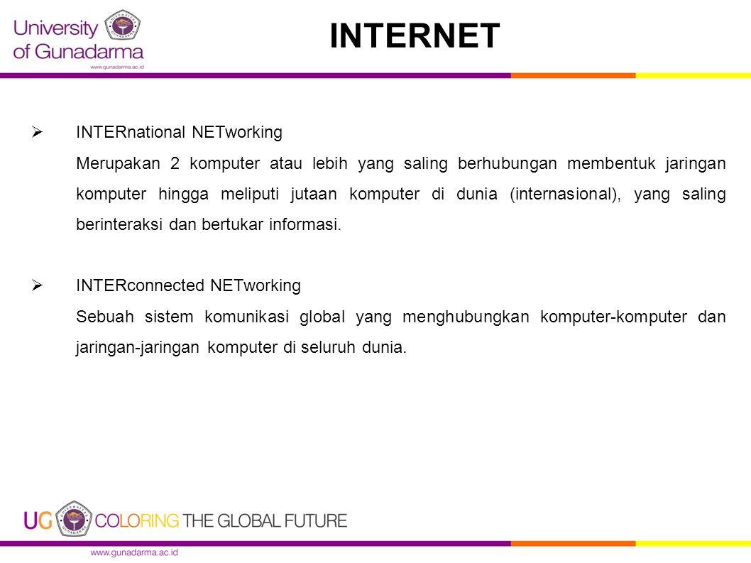 INTERNET INTERnational NETworking