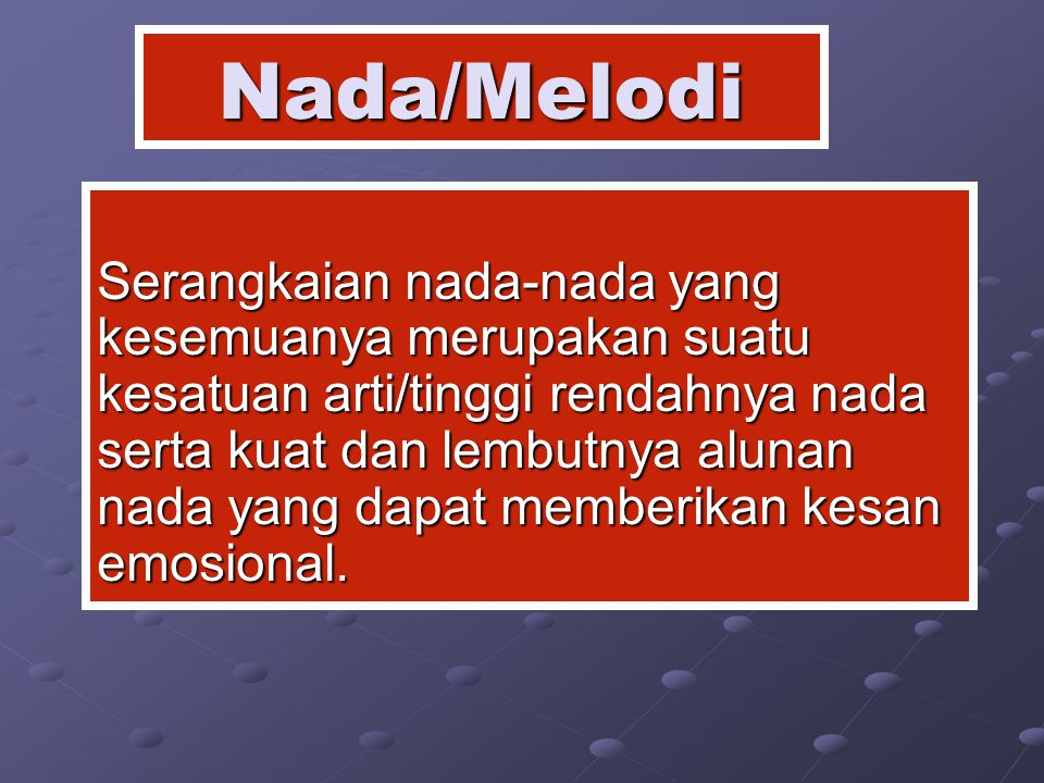 Nada/Melodi