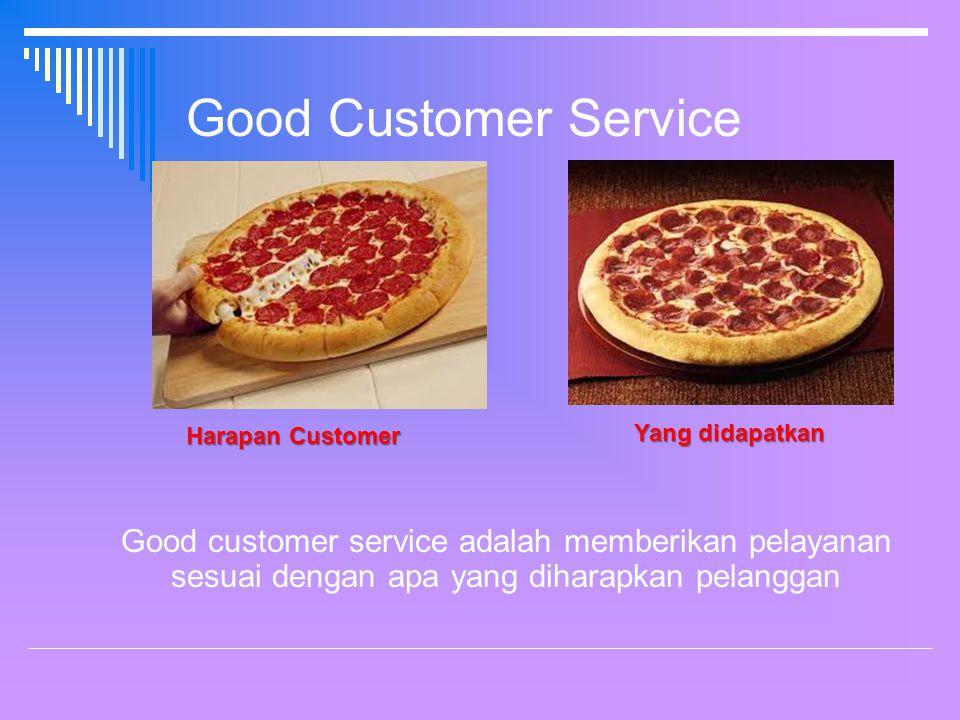 Good Customer Service Harapan Customer. Yang didapatkan.