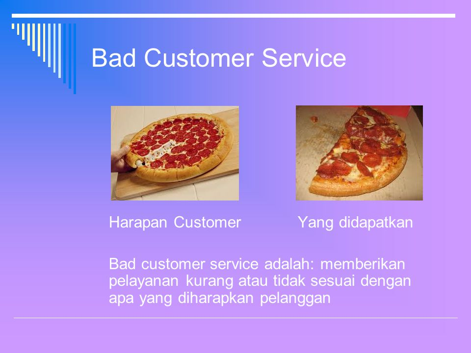 Bad Customer Service Harapan Customer Yang didapatkan