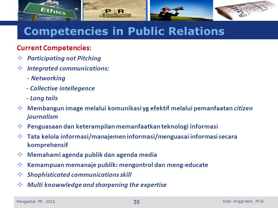 Competencies in Public Relations