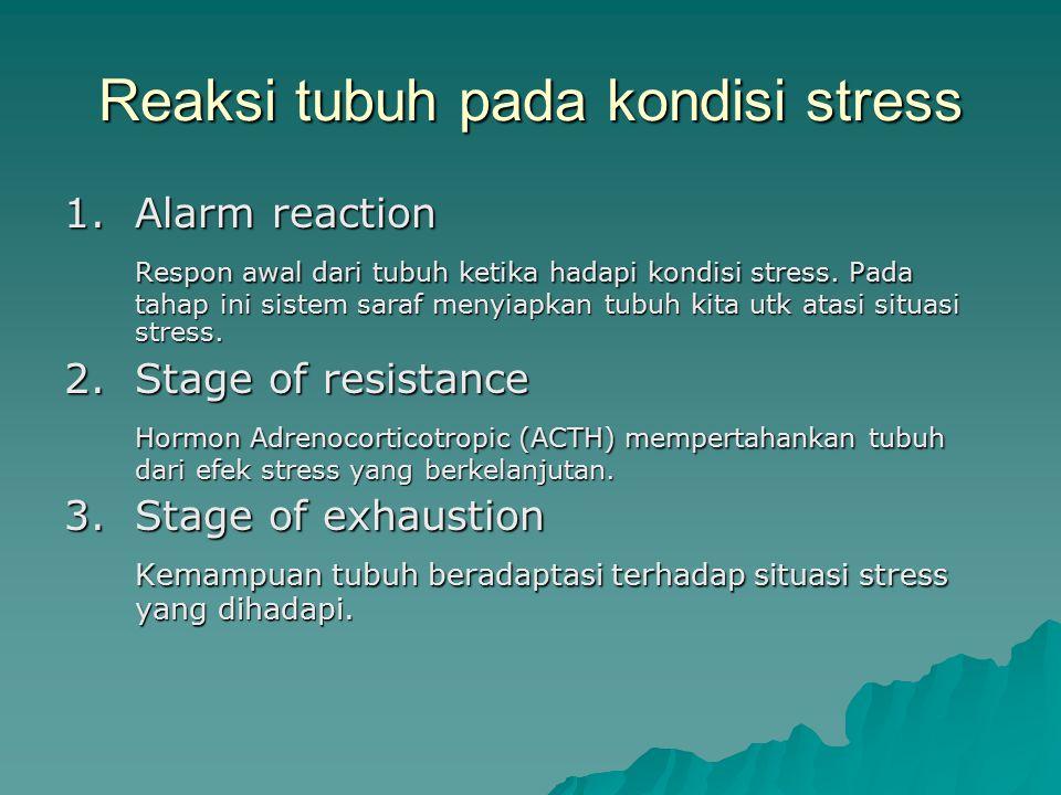 Reaksi tubuh pada kondisi stress