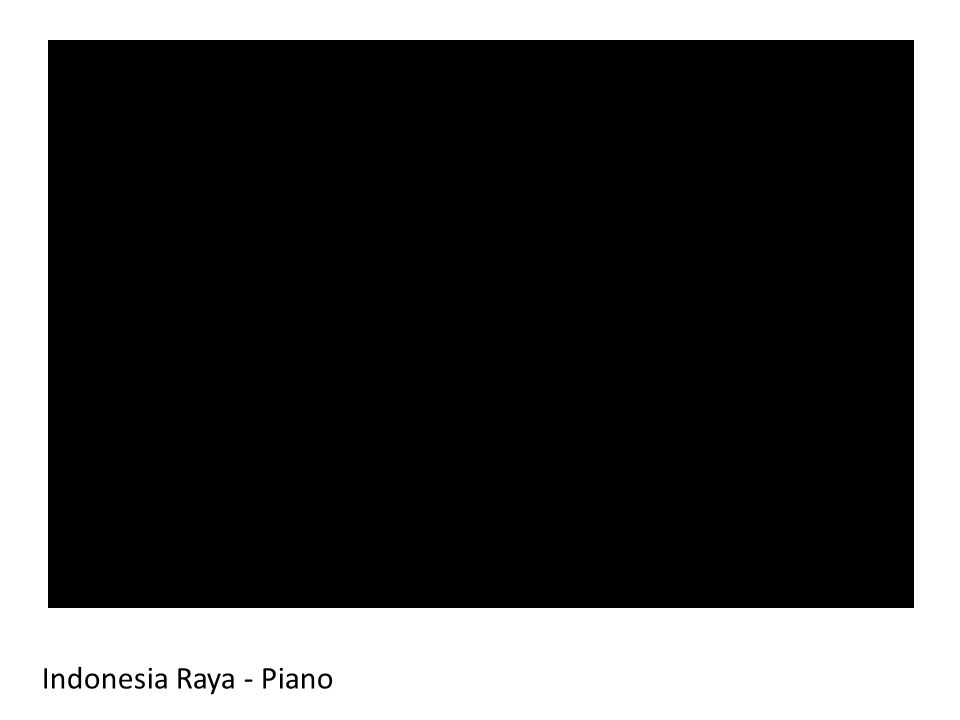 Indonesia Raya - Piano