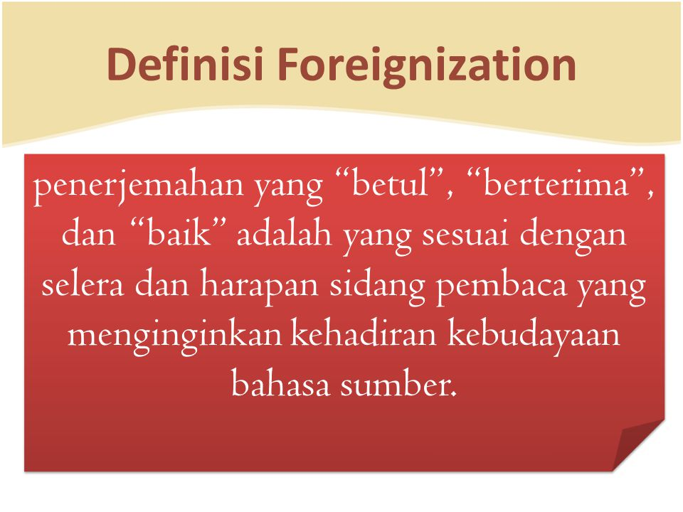 Definisi Foreignization