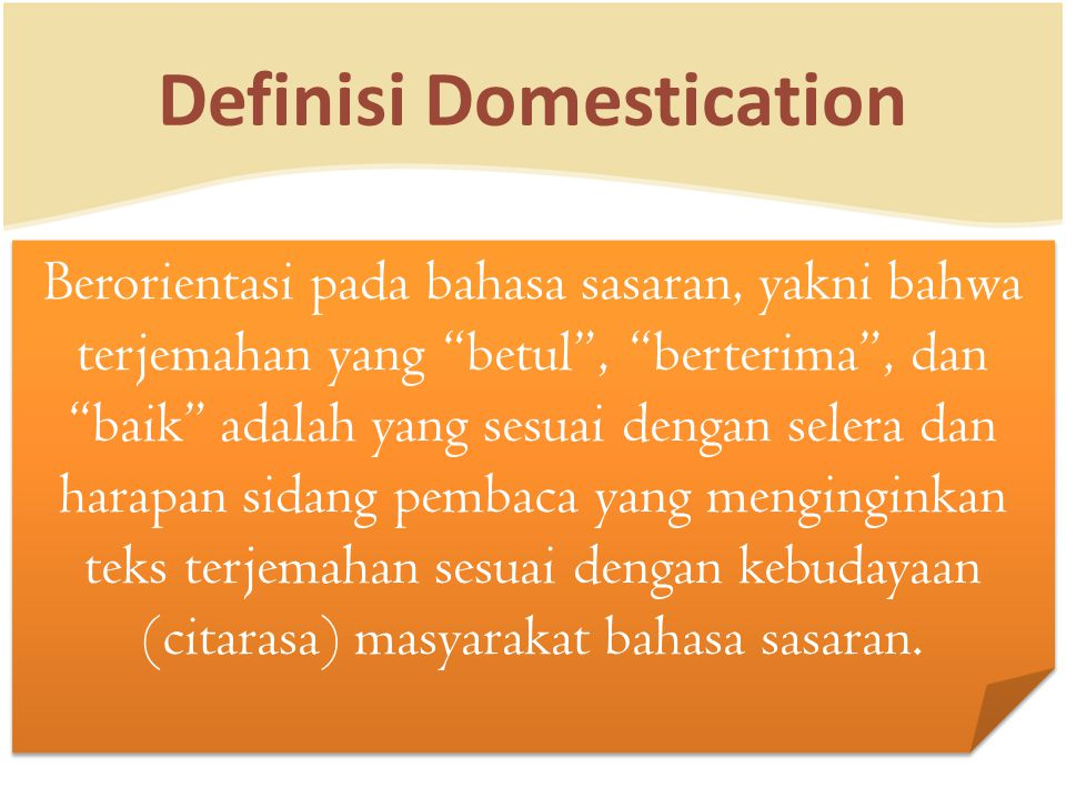 Definisi Domestication