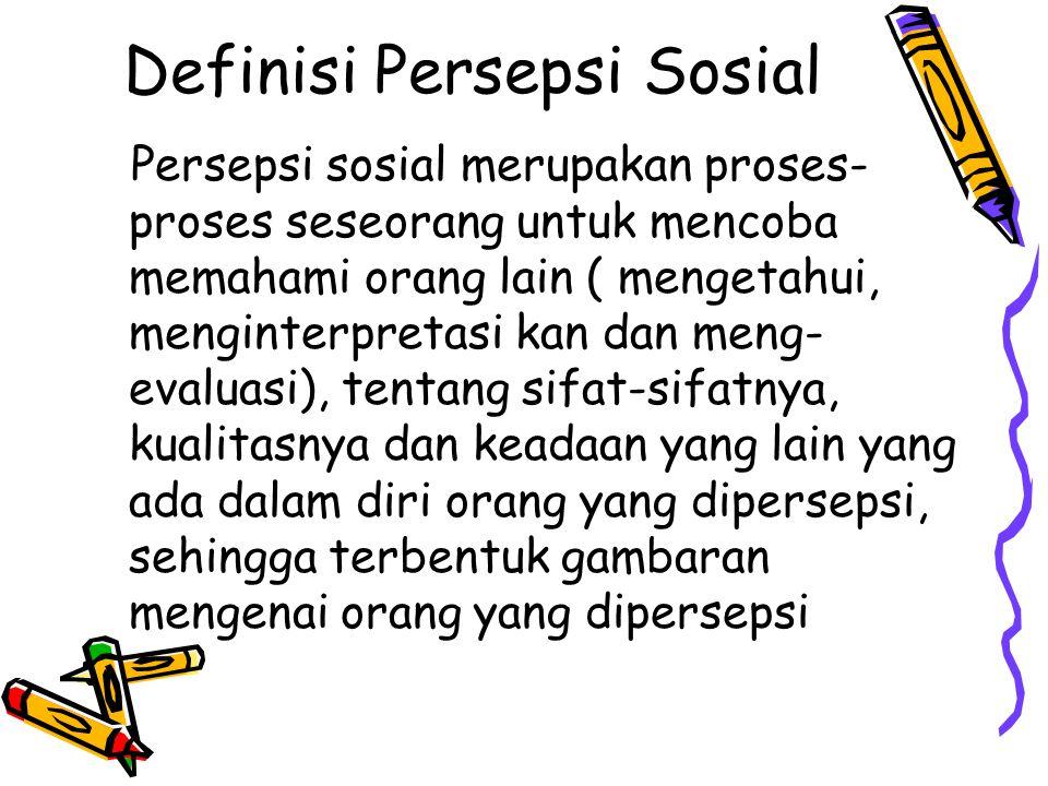 Definisi Persepsi Sosial