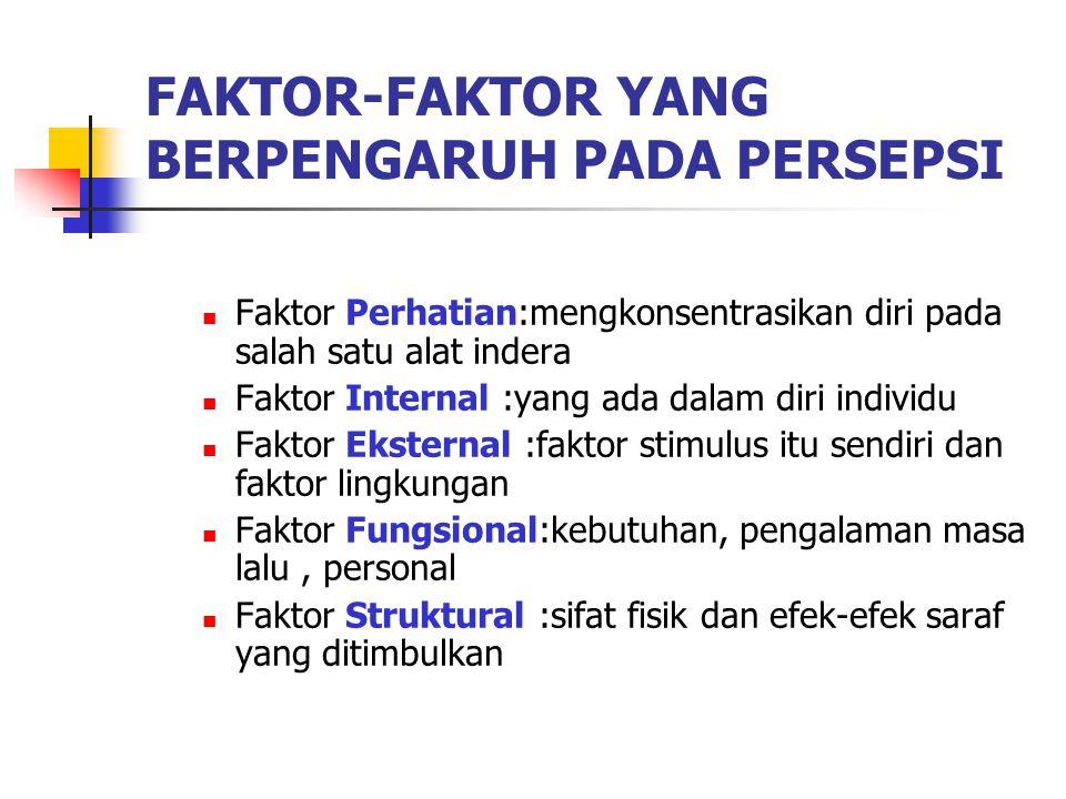 FAKTOR-FAKTOR YANG BERPENGARUH PADA PERSEPSI