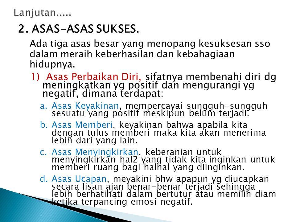 2. ASAS-ASAS SUKSES. Lanjutan.....