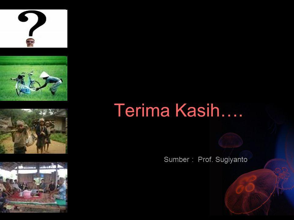 Terima Kasih…. Sumber : Prof. Sugiyanto