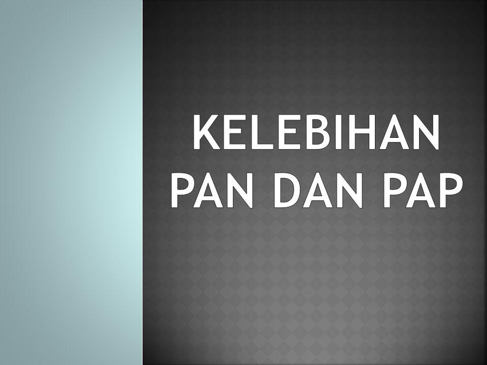 KELEBIHAN PAN DAN PAP