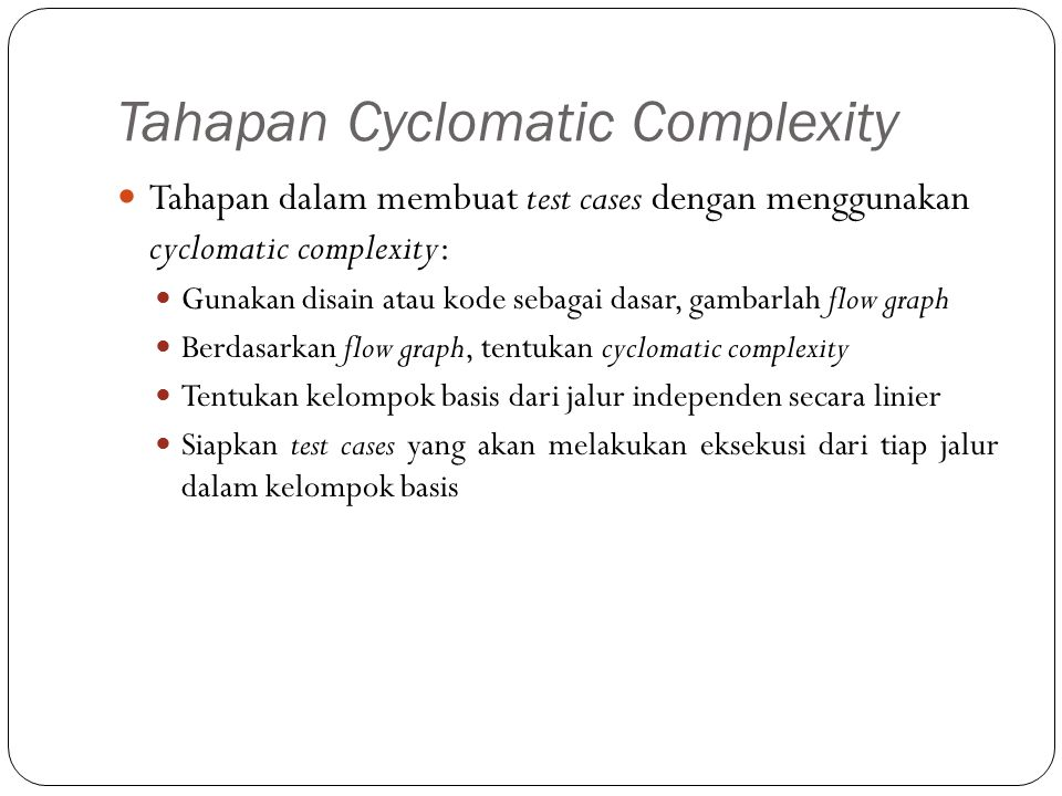 Tahapan Cyclomatic Complexity
