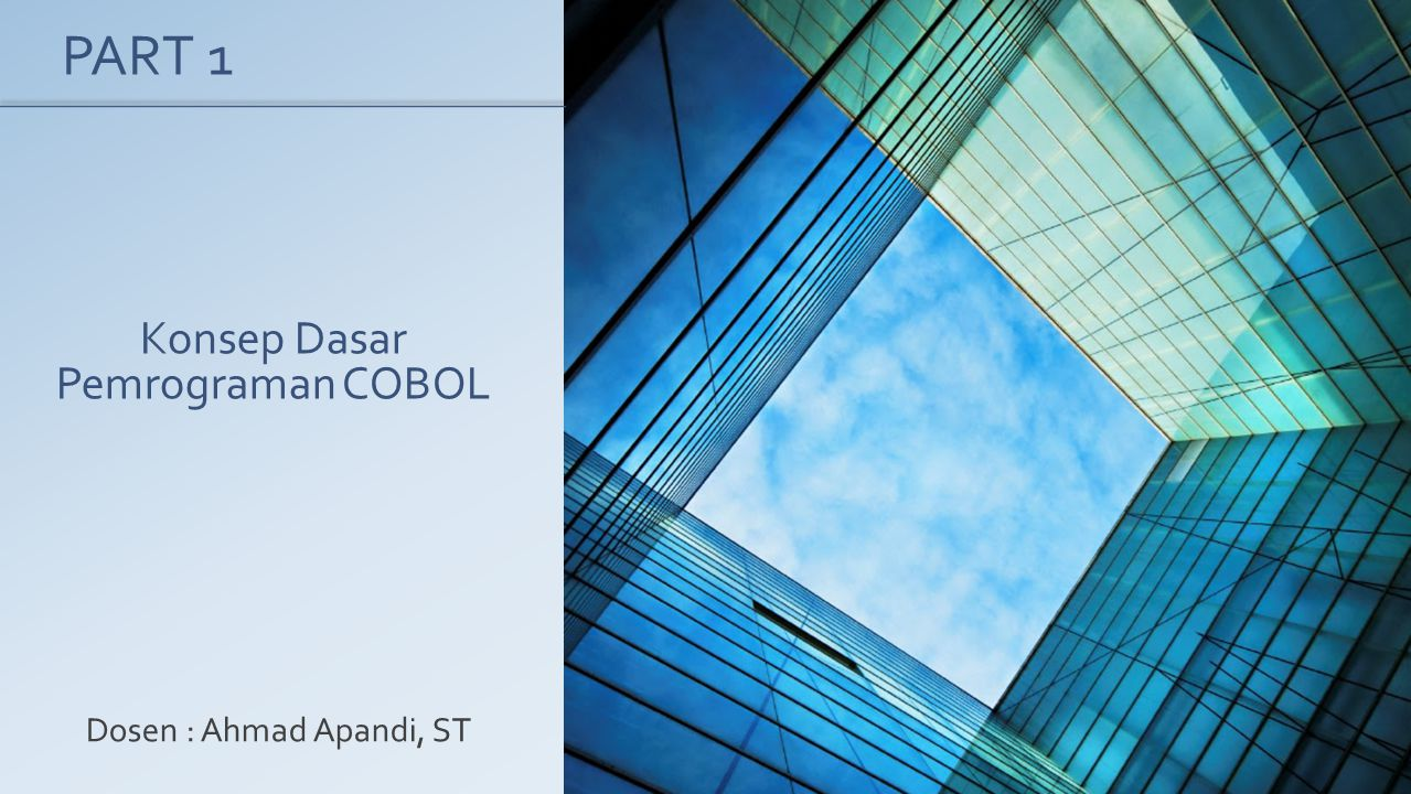 Konsep Dasar Pemrograman COBOL