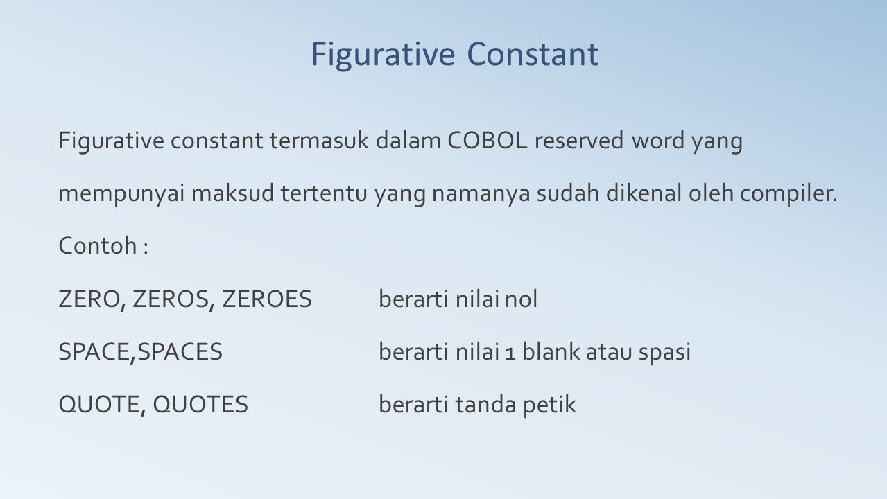 Figurative Constant