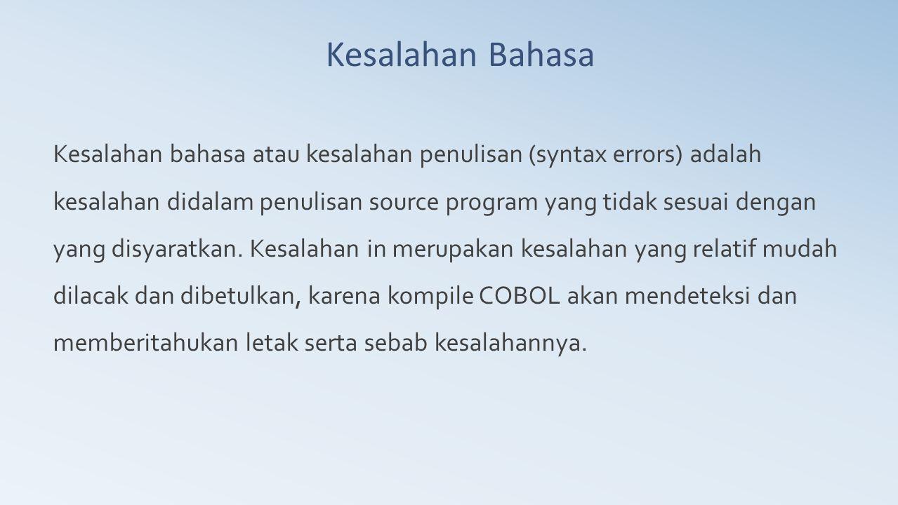 Kesalahan Bahasa