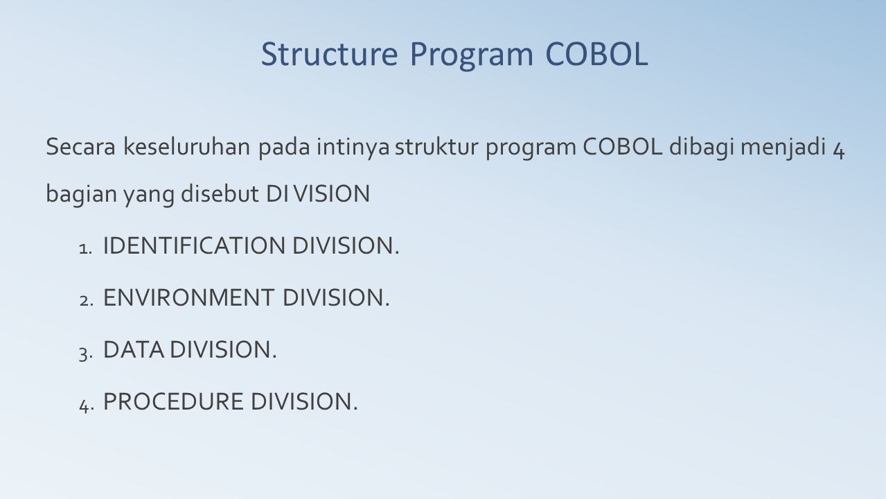 Structure Program COBOL