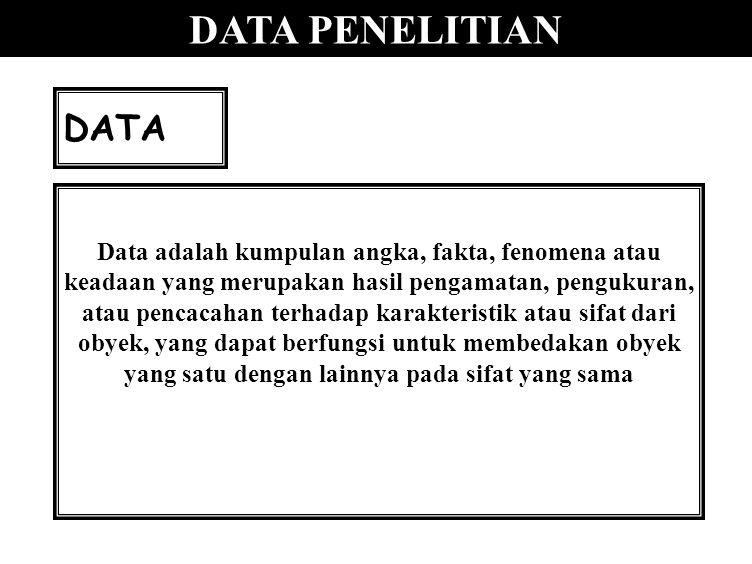 DATA PENELITIAN DATA.
