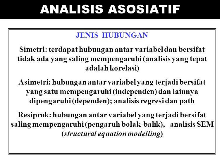 ANALISIS ASOSIATIF JENIS HUBUNGAN