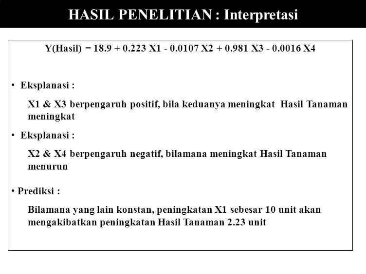 HASIL PENELITIAN : Interpretasi